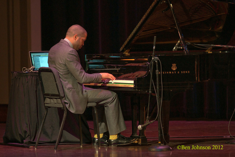 Jason Moran an The Bandwagon performing in Irvine Auditorium on the University of Pennsylvania Campus on April 5, 2012 for the School of African Studies