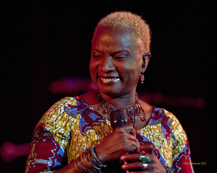 Angelique Kidjo performing at The Montgomery County Community College in Blue Bell Pennsylvania on March 23, 2012