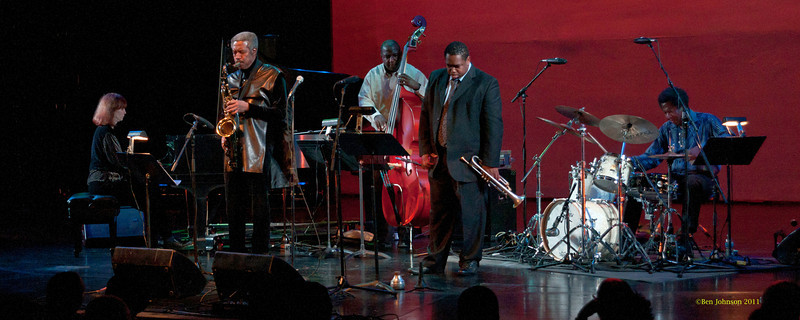 Billy Harpers Quintet Photo - with Freddie Hendrix- Trumpet, Francesca Tanksley - Piano, Aaron Scott - Drums, Clarence Seay - Bass and in performance at Montgomery County Community College in Blue Bell PA, on October 15, 2011