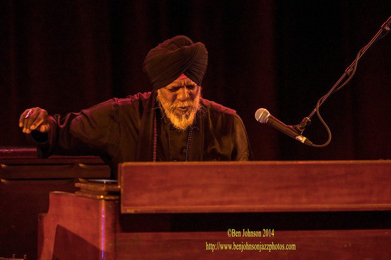 Legendary Jazz organist, Dr. Lonnie Smith performing with Guitarist Jonathon Kreisberg, and drummer Joe Dyson performing at The Montgomery County Community College in Blue Bell, PA., as part of the 2013-2014 Lively Arts Series