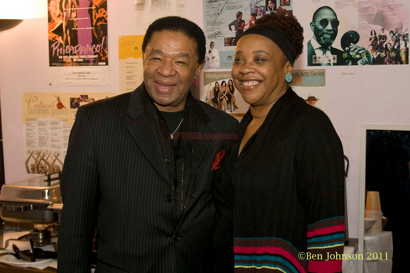 Buster Williams and Helen Haynes backstage with Drummer Jimmy Cobb's So What Band performing at Montgormery County Community College's Science Auditorium on February 11, 2011.