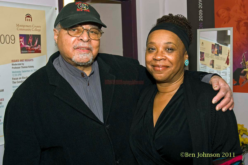 Jimmy Cobb and Helen Haynes backstage with Drummer Jimmy Cobb's So What Band performing at Montgormery County Community College's Science Auditorium on February 11, 2011.