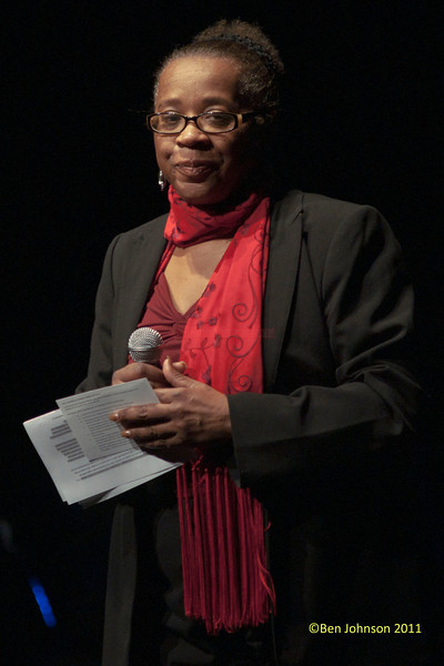 Helen Haynes Director of Cultural Affairs at Montgomery County Community College at Kurt Elling's performance at The Montgomery County Community College in Blue Bell, Pennsylvania on December 3, 2011