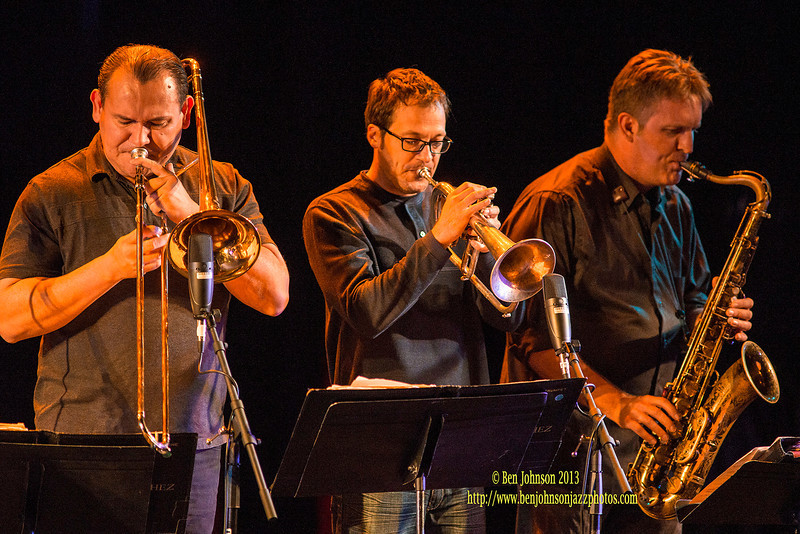 Poncho Sanchez and his Latin Band performing at Montgomery County Community College as part of the 2013 - 2014 Lively Arts Series