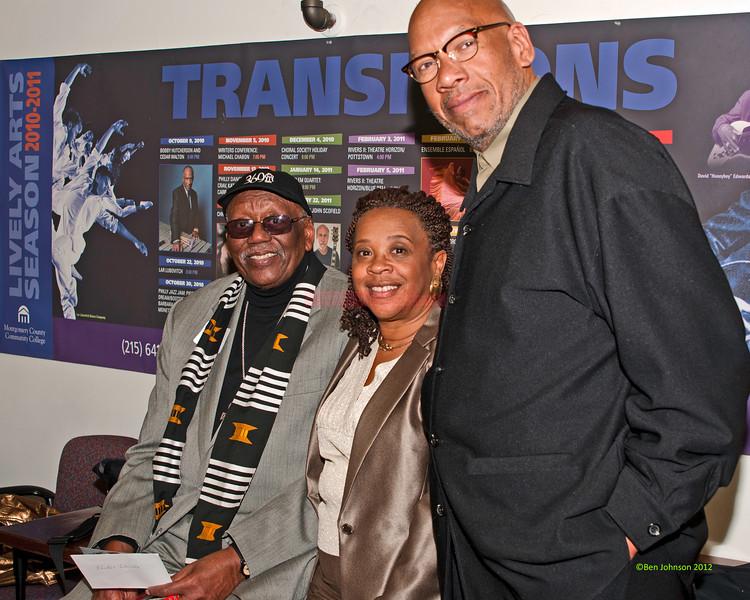 Randy Weston Helen Haynes and author Willard Jenkins photo