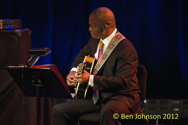 Russel Malone Photo with The Ron Carter Trio - Montgomery County Community College in Blue Bell Pennsylvania performing November 18, 2012, Donald Vega - piano, Russel Malone - Guitar, Ron Carter - Bass