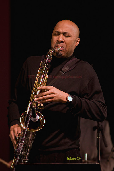 Ron Blake performing with The Christian McBride Band performing  at the Montgomery Community College Science Theater, December 12, 2008