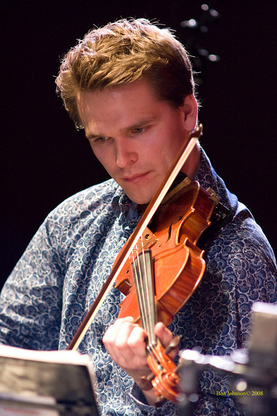 Mads Tolling - The Turtle Island String Quartet performing John Coltrane's music including 'A Love Supreme' at the Montgomery Community College Science Theater, November 8, 2008