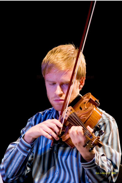Jeremy Kittel - The Turtle Island String Quartet performing John Coltrane's music including 'A Love Supreme' at the Montgomery Community College Science Theater, November 8, 2008