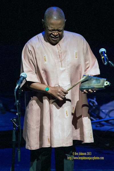 Hugh Masekela performing in The Zellerbach Theater Philadelphia April 14, 2013