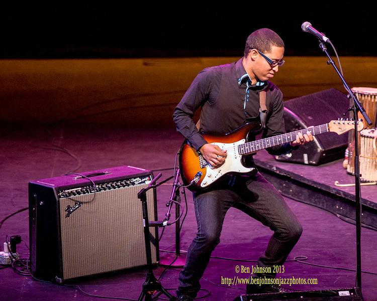 Hugh Masekela performing in The Zellerbach Theater Philadelphia April 14, 2013