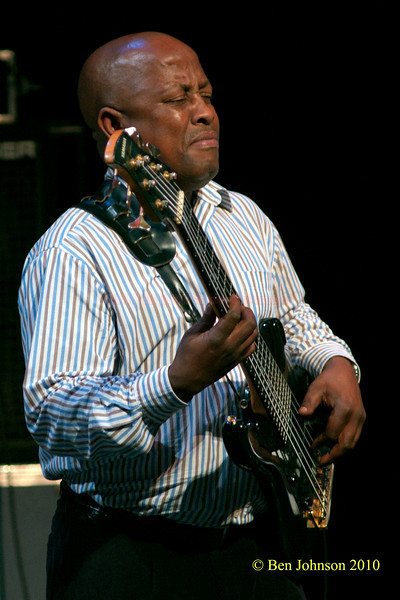 "ABEDNIGO ""FANA"" ZULU Photo with Hugh Masekela - Performing at TheZellerbach Theater - The Annenburg Center for The Arts on  The University of Pennsylvania Campus in Philadelphia on October 8, 2010"