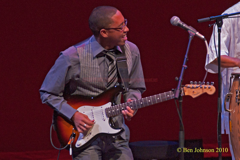 CAMERON JOHN WARD Photo - with Hugh Masekela - Performing at TheZellerbach Theater - The Annenburg Center for The Arts on  The University of Pennsylvania Campus in Philadelphia on October 8, 2010