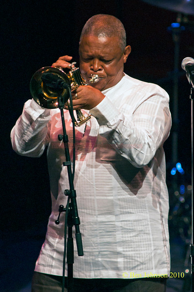 Hugh Masekela Photo - Performing at TheZellerbach Theater - The Annenburg Center for The Arts on  The University of Pennsylvania Campus in Philadelphia on October 8, 2010