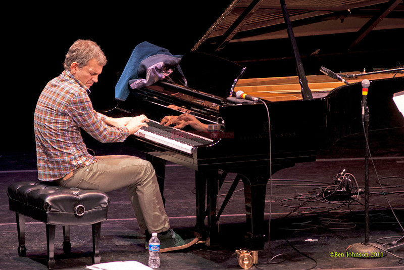 Joshua Redman and Brad Mehldau Duo performing at The Annerberg Center for the Arts' Zellerbach Theater on the University of Pennsylvania Campus on October 14, 2011