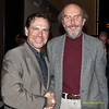 Kurt Elling and Temple Radio WRTI's Bob Craig at The Annenberg Center on The University of Pennsylvania campus in Philadelphia, PA on April 28, 2012