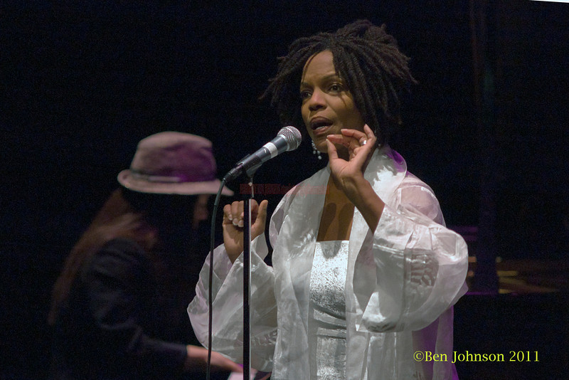 Nnena Freelon photos - performing at The Zellerbach Theater University of Pennsylvania Annenburg Center for the Arts April 1, 2011 with Miki Hayama, piano; Wayne Batchelor, bass; Adonis Rose, drums; and Beverly Bostford, percussion.