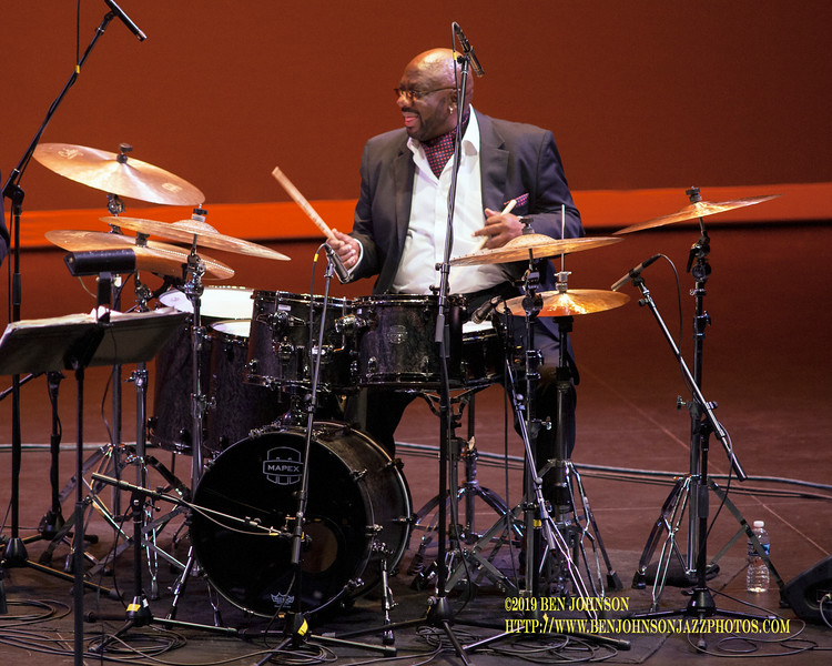 Ralph Peterson Leads an elite line-up of alumni members of one of Jazz' most influential bands, Art Blakey's Jazz Messengers At The University Of Pennsylvania's Zellerbach Theater November 16, 2019 With Bill Pierce,  Brian Lynch, Essiet Essiet, Zaccai Cutis and Robin Eubanks