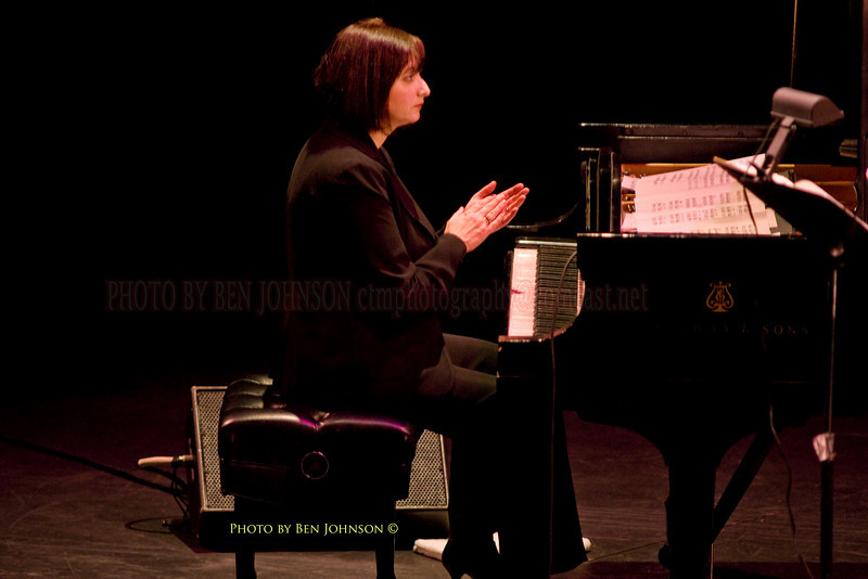 Renee Rosnes Photo  with The SF Jazz Collective at Zellerbach Theater, Philadelphia March 5, 2009