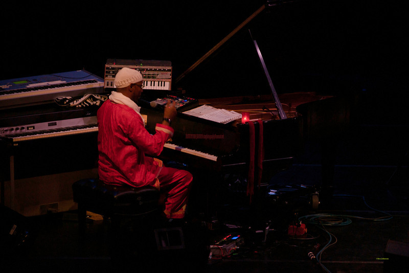 The Omar Sosa Quartet performing at The Zellerbach Theater at The Annenberg Center for the Arts on The University of Pennsylvania Campus in Philadelphia, PA on October 28, 20