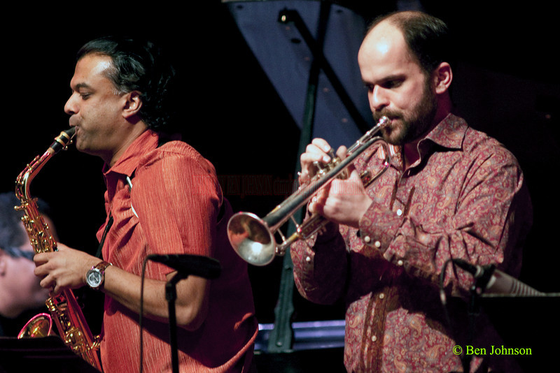 Rudresh Mahanthappa and Amir ElSaffar performing with Danilo Pérez: .Things to Come: 21st Century Dizzy Jazz Concert' at the Kimmel Center, March 19, 2010