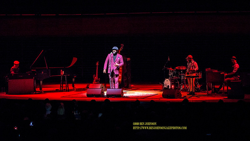Gregory Porter Performs To A Packed House In Verizon Hall At The Kimmel Center In Philadelphia, February 10, 2020 With Tivon Pennicott  - Saxophone,  Chip Crawford - Piano,  Jahmal Nichols - Bass,  Emanuel Harrold - Drums,  Ondrej Pivec - Organ