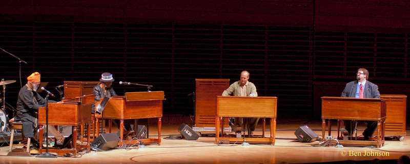 Dr. Lonnie Smith, Trudy Pitts, John Medeski and Joey DeFranceso photo - The Kimmel Center