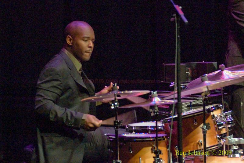 Ulysses Owens Jr. performing with Kurt Elling Photo -Performing at The Kimmel Center in Phialdelphia, PA, November 22, 2009
