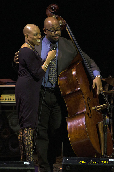 Dee Dee Bridgewater and Christian McBride with The Monterey Jazz  Festival 55th Anniversary Tour at The Merriam Theater in Philadelphia, PA on February 2, 2013 featuring Christian McBride-Bass, Benny Green-Piano, Lewis Nash-Drums, Chris Potter-Saxophone,  Ambrose Akinmusire-Trumpet and Dee Dee Bridgewater-vocals