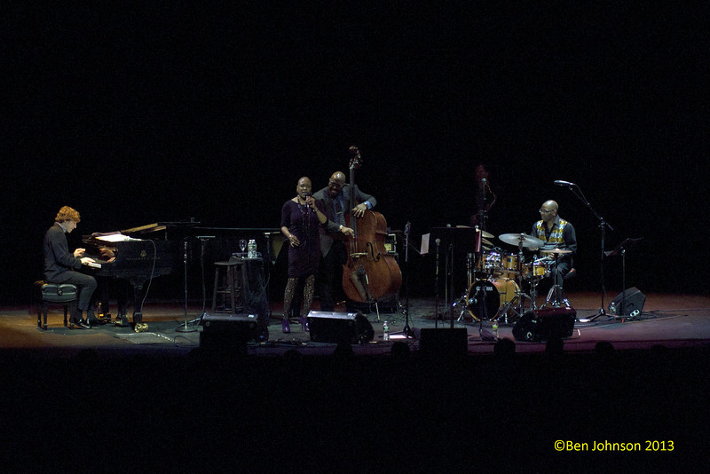 The Monterey Jazz  Festival 55th Anniversary Tour at The Merriam Theater in Philadelphia, PA on February 2, 2013 featuring Christian McBride-Bass, Benny Green-Piano, Lewis Nash-Drums, Chris Potter-Saxophone,  Ambrose Akinmusire-Trumpet and Dee Dee Bridgewater-vocals