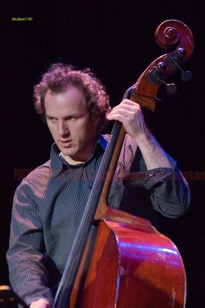 Hans Glawischnig with Miguel Zenon 4Tet performing at The Rutgers University Performing Arts Center, Gordon Theater  January 27, 2007