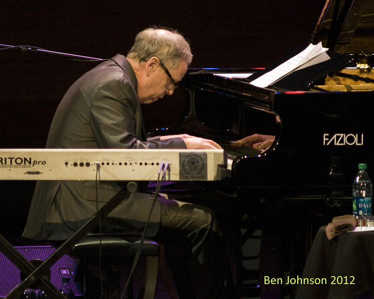 Kenny  Werner performing with A tribute to Toots Thielemans in Rose Theater in Jazz At Lincoln Center on September 28, 2012