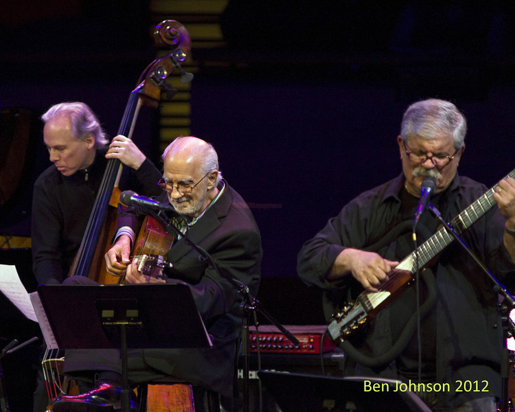 Marc Johnson, Dori Caymni and Oscar Castro-Neves  A tribute to Toots Thielemans in Rose Theater in Jazz At Lincoln Center on September 28, 2012