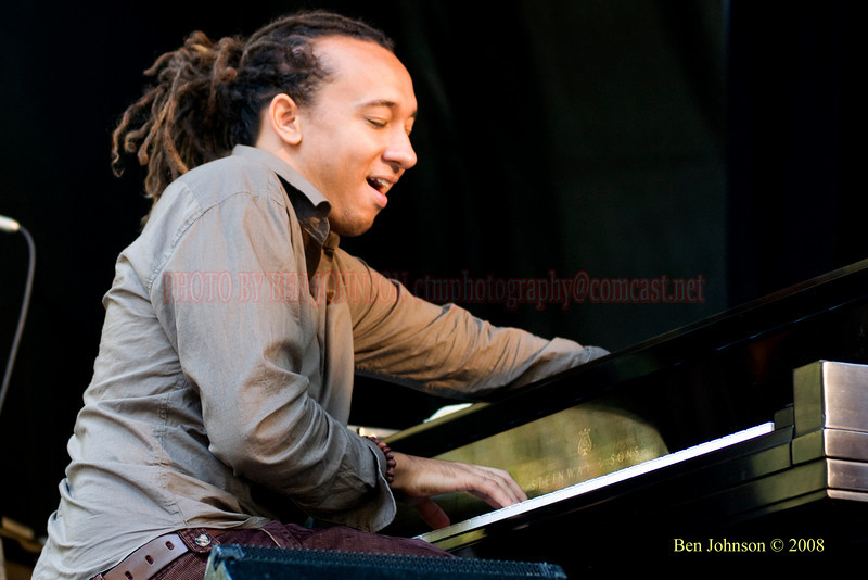 Gerald Clayton Photo - The 2008 Charlie Parker Jazz Festival, August 23-24, held in Marcus Garvey Park, and Tomkins Square Park