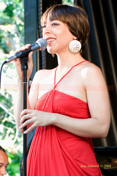 Gretchen Parlato - The 2008 Charlie Parker Jazz Festival, August 23-24, held in Marcus Garvey Park, and Tomkins Square Park