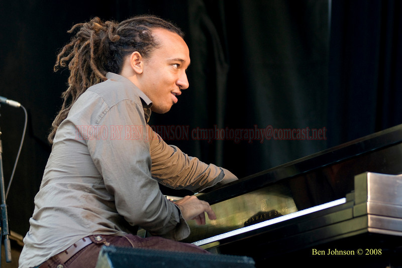 Gerald Clayton Photo -The 2008 Charlie Parker Jazz Festival, August 23-24, held in Marcus Garvey Park, and Tomkins Square Park
