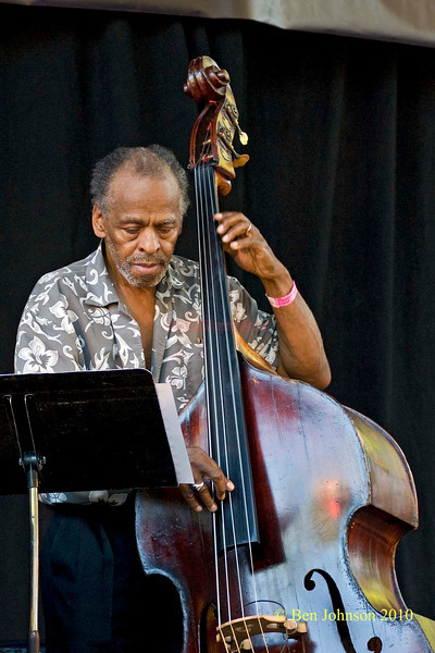 Cecil McBee photo - The 2010 Charlie Parker Jazz Festival held in Tompkins Square Park Featuring Vijay Iyer, The Cookers and Catherine Russell