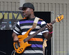 Derrick Hodge - perfoming at The 2012 Charlie Parker Festival at Marcus Garvey Park, New York City, August 25, 2012