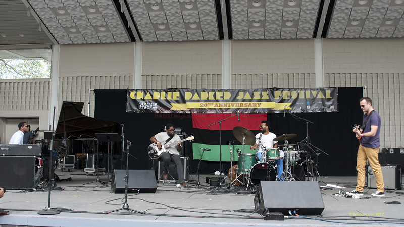 Jamire Williams and Erimaj - perfoming at The 2012 Charlie Parker Festival at Marcus Garvey Park, New York City, August 25, 2012