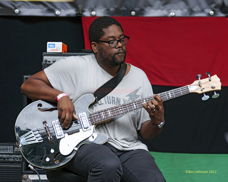 Vincente Archer - perfoming at The 2012 Charlie Parker Festival at Marcus Garvey Park, New York City, August 25, 2012