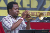 Ambrose Akinmusire- perfoming at The 2012 Charlie Parker Festival at Marcus Garvey Park, New York City, August 25, 2012