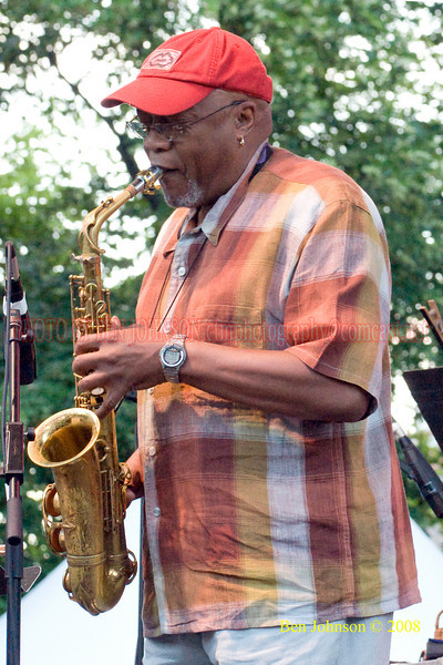 Jazz legend Oliver Lake performing with 'Trio 3' at2008 Clifford Brown Jazz Festival in Wilmington, Delaware