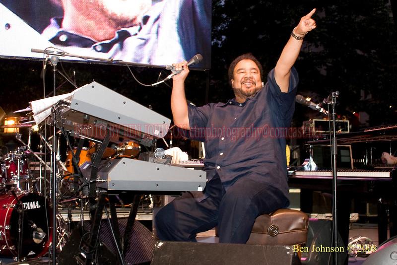 George Duke - 2008 Clifford Brown Jazz Festival in Wilmington, Delaware