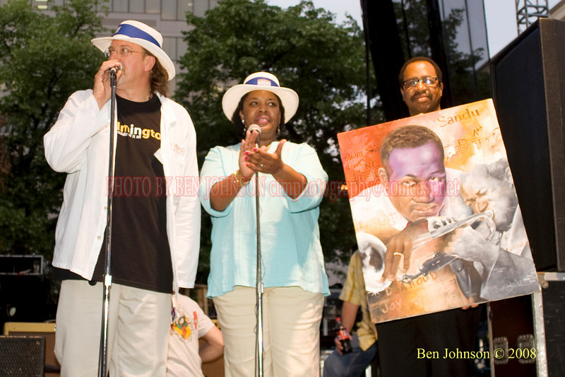 John Ragan, Tina Betz and Clifford Brown, JR. - 2008 Clifford Brown Jazz Festival in Wilmington, Delaware