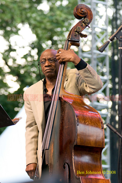 Jazz legend Reggie Workman performing with 'Trio 3'at the 2008 Clifford Brown Jazz Festival in Wilmington, Delaware