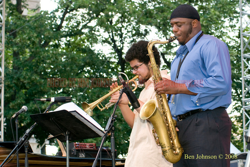 Josh Evans and Lawrence Clark - 2008 Clifford Brown Jazz Festival in Wilmington, Delaware