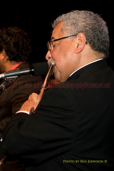 Justo Almario Photo - Performing with Pete Escovedo at The 21st Annual Clifford Brown Jazz Festival at Rodney Square in Wilmington, Delaware, June 15 -21, 2009