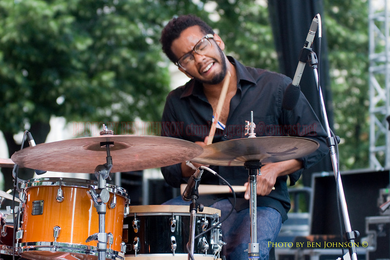 Jamire Williams Photo - Perfroming with Jason Moran Bandwagon - Performing at The 21st Annual Clifford Brown Jazz Festival at Rodney Square in Wilmington, Delaware, June 15 -21, 2009