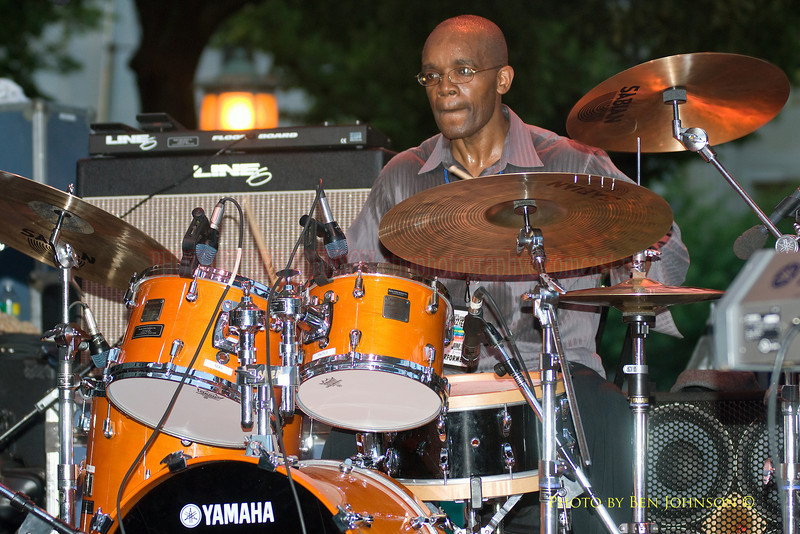 Rudy Royston Photo - Performing with Javon Jackson and Les McCann at The 21st Annual Clifford Brown Jazz Festival at Rodney Square in Wilmington, Delaware, June 15 -21, 2009