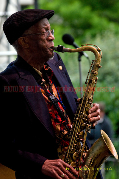 Donald Watson Photo Performing with Wayne Morgan at The 21st Annual Clifford Brown Jazz Festival at Rodney Square in Wilmington, Delaware, June 15 -21, 2009